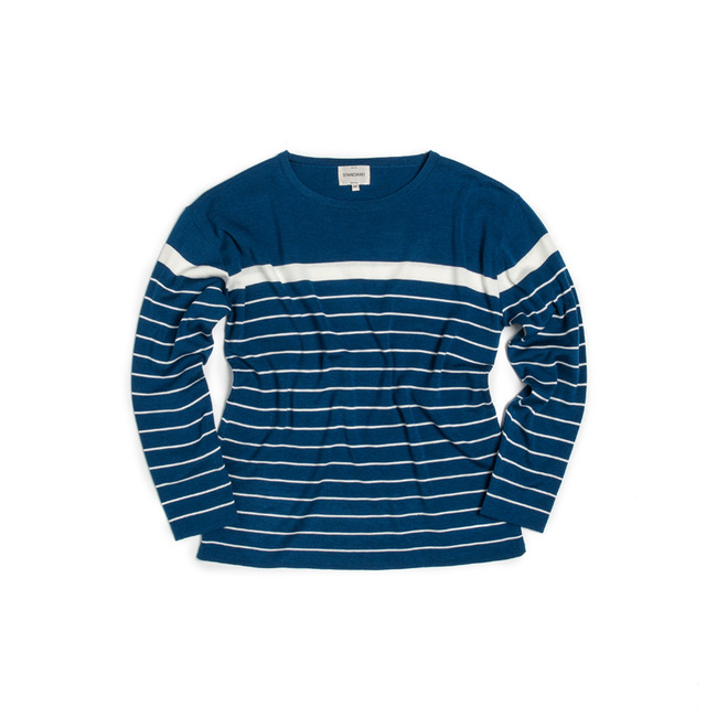 "Two-Stripe Knit ""BLUE""  ONLINE ONLY"