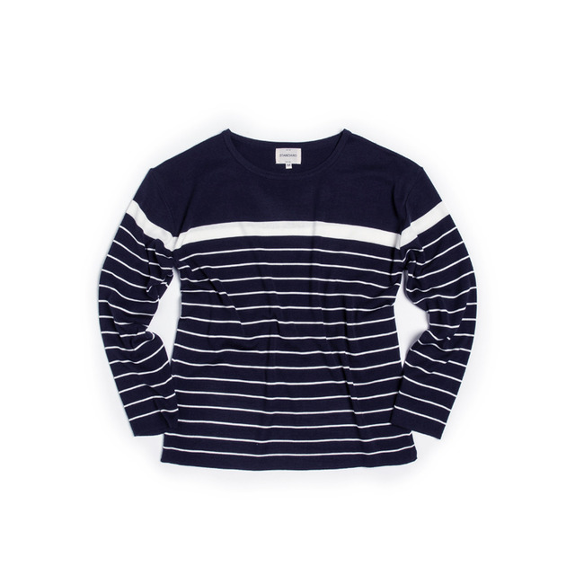 "Two-Stripe Knit ""NAVY"" ONLINE ONLY"