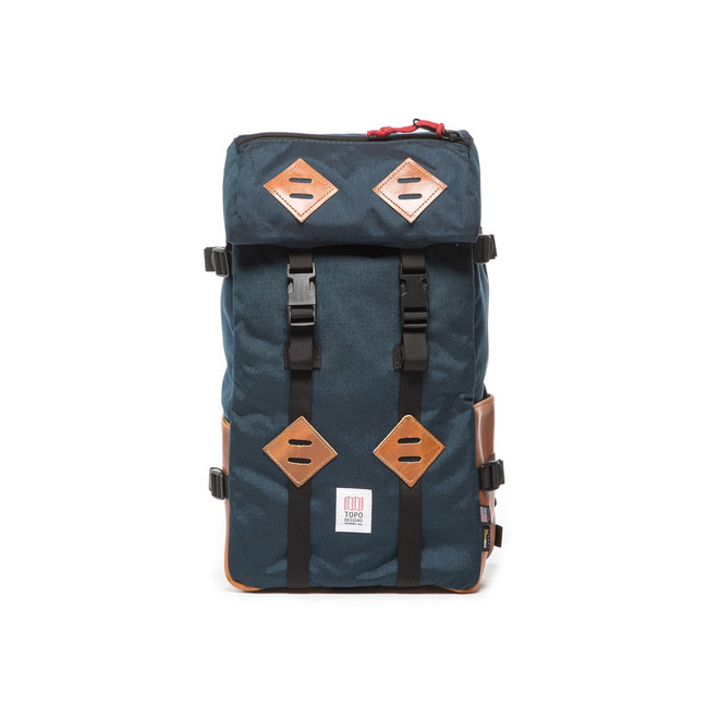 "22L Kletter Sack ""NAVY/LEATHER""Sale Now"