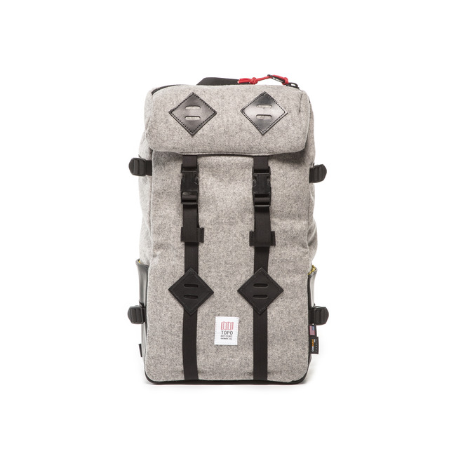 "22L Kletter Sack ""GRAY WOOL/BLACK LAETHER""Sale Now"