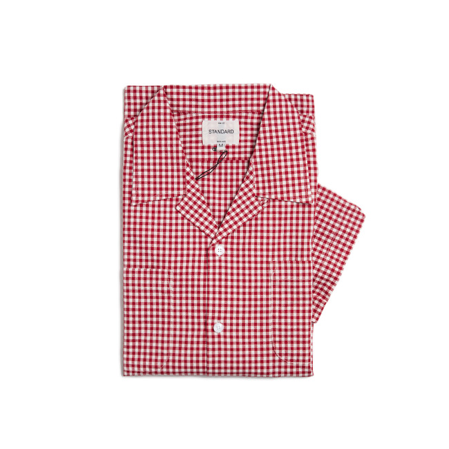 "Check Short Shirt ""RED""  ONLINE ONLY"