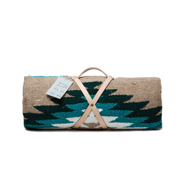 "Tierra Collection Blanket ""TAN TEAL"""