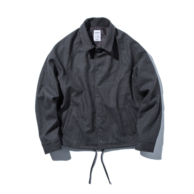 "Wool Coach Jacket ""CHARCOAL GRAY"""