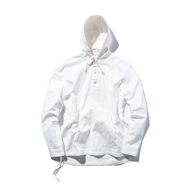 "Pullover Hooded Shirt ""WHITE"""