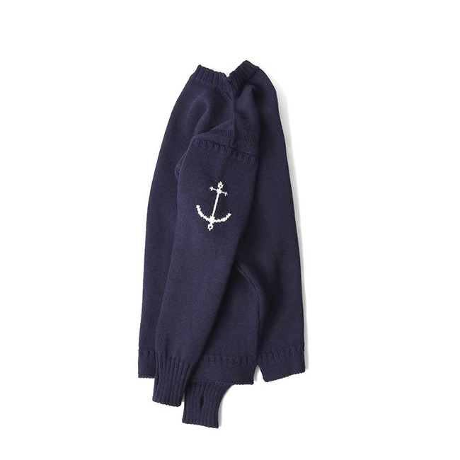 Guernsey Sweater - Navy