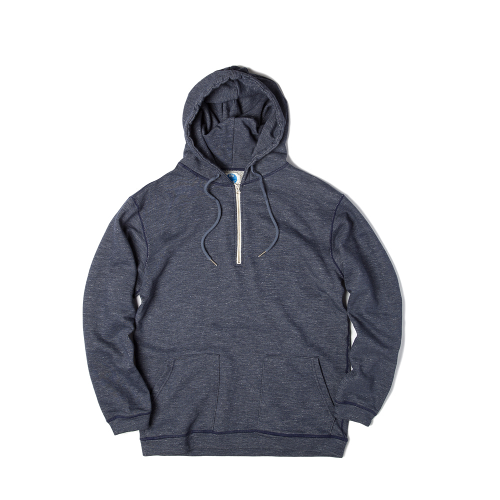 Athletic Half Zip Hoody 'NAVY'