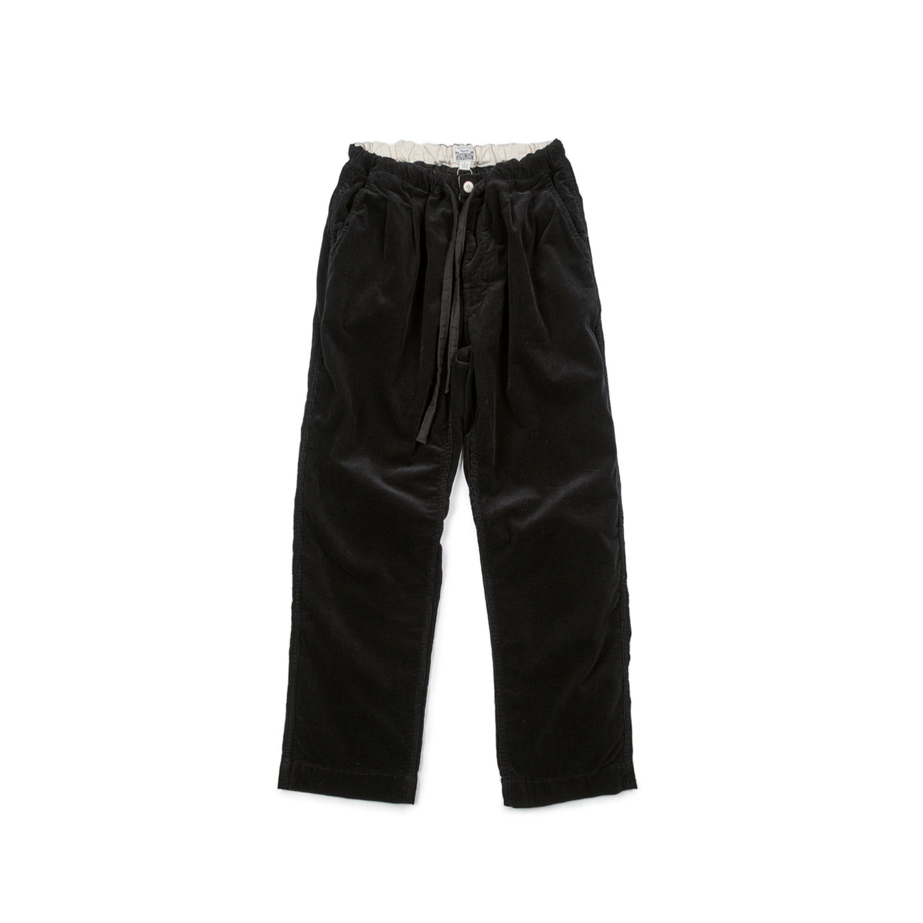 Corduroy Easy Pants Black