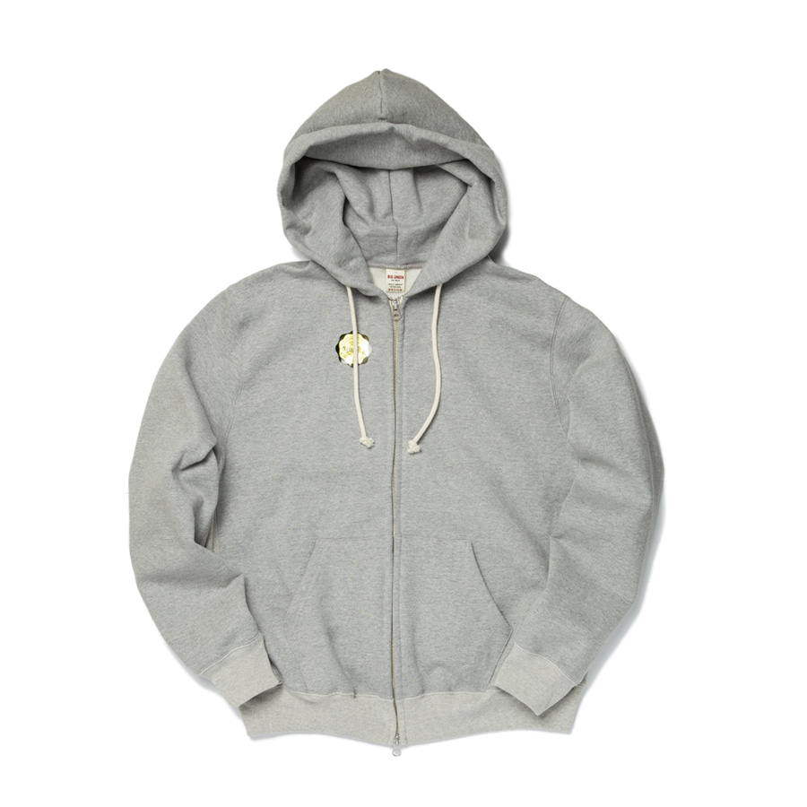 "Sweat Zip Parka ""GREY MELANGE"""