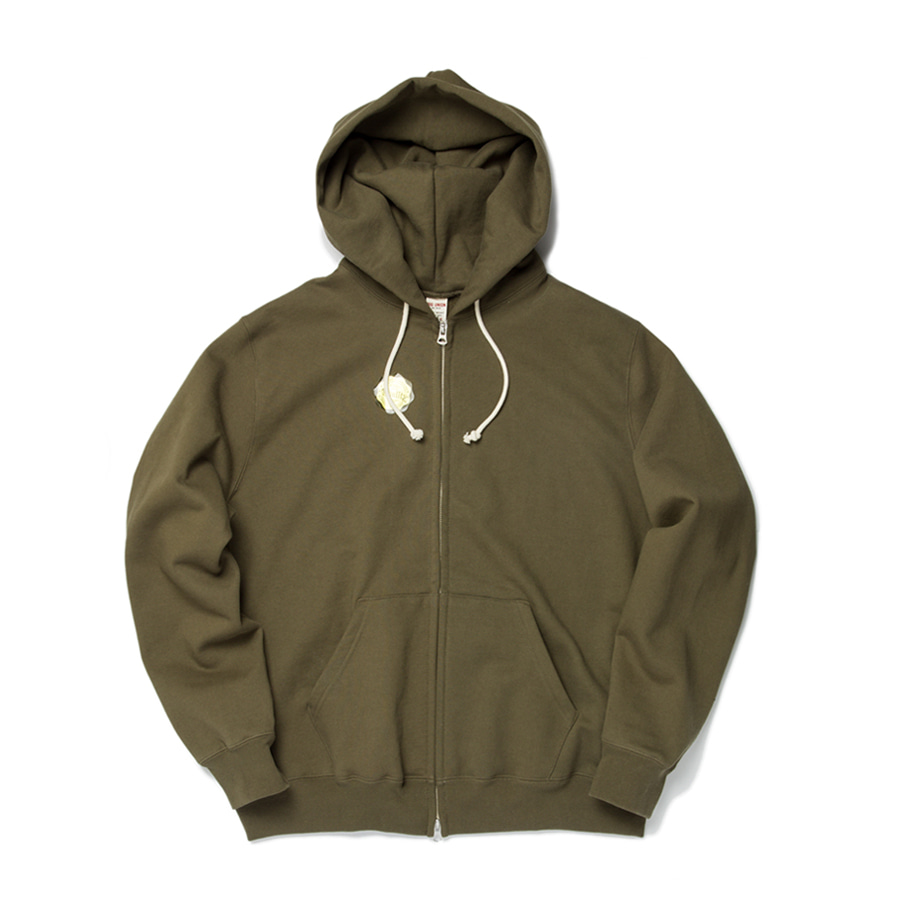 "Sweat Zip Parka ""OLIVE"""