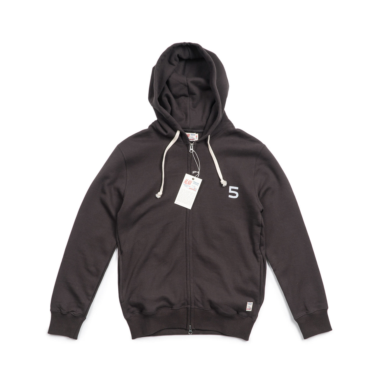 "HiFive 2 Way Zip up Hood ""CHARCOAL"""
