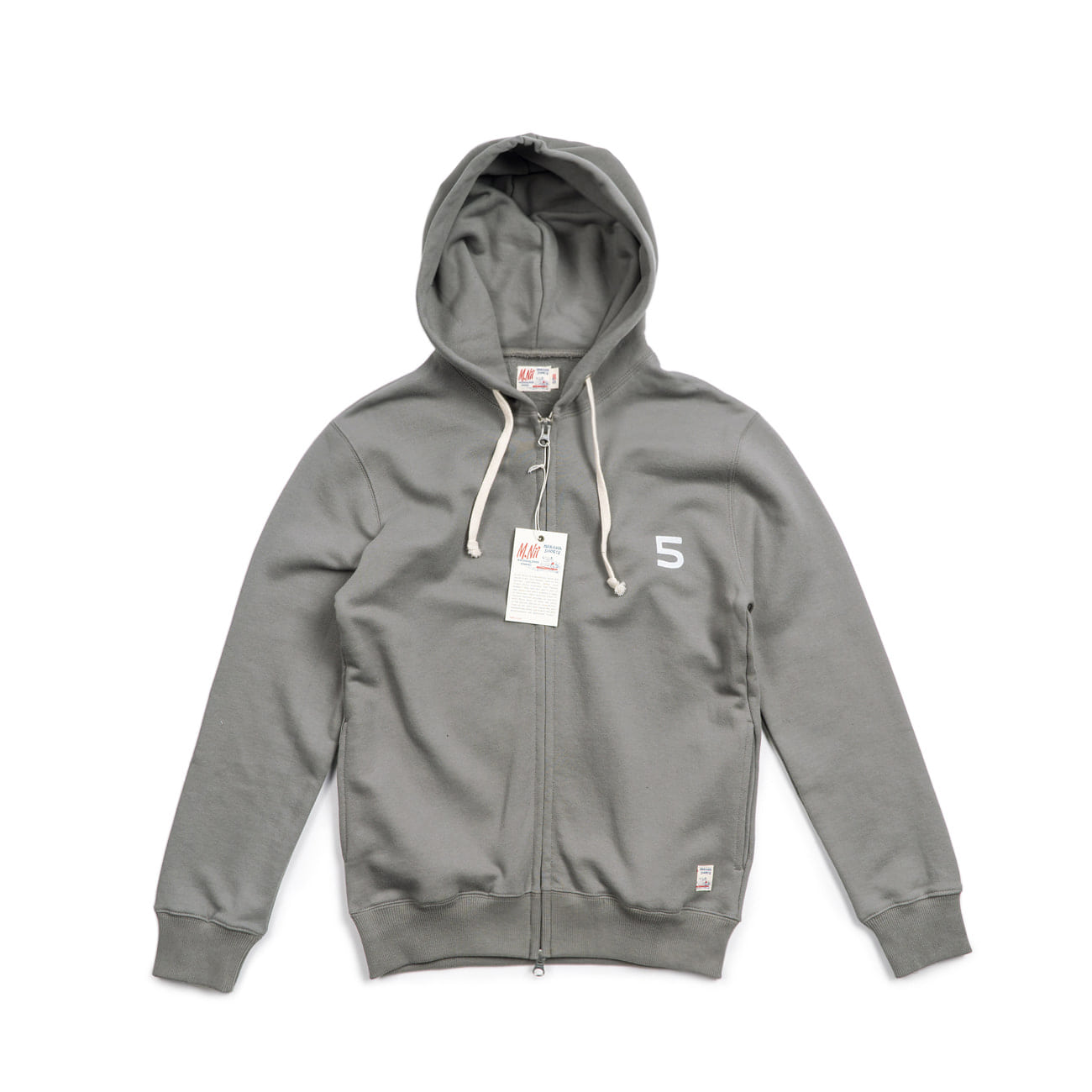 HiFive 2 Way Zip up Hood  Grey