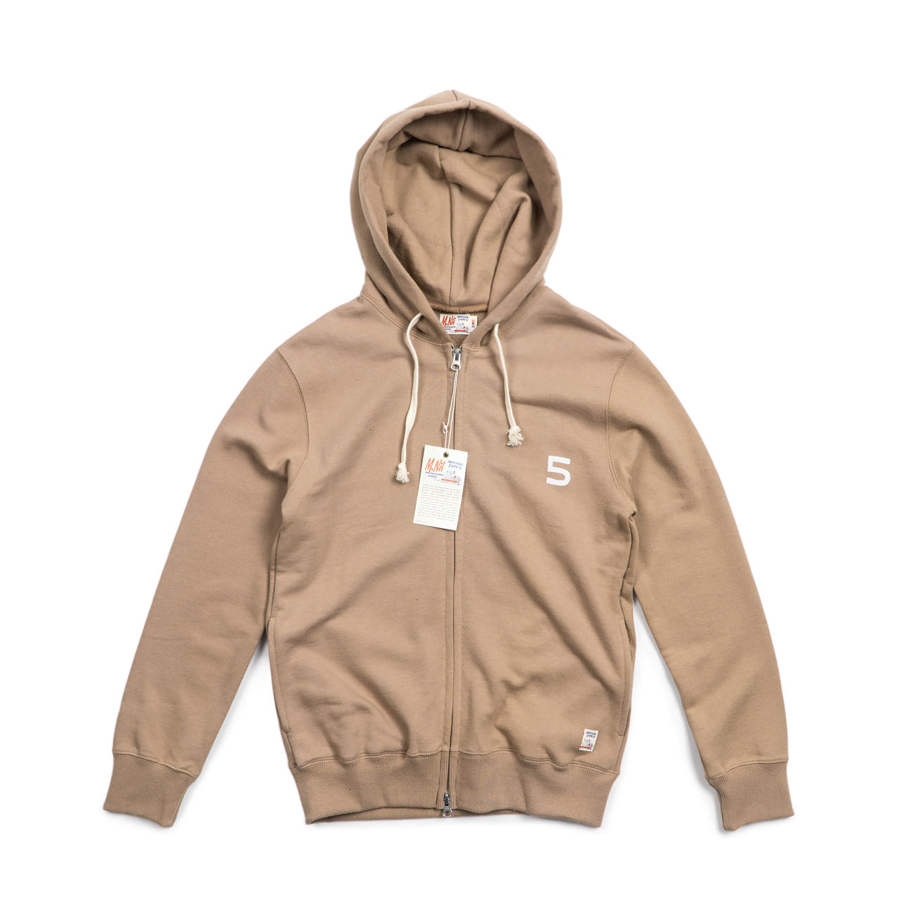 "HiFive 2 Way Zip up Hood ""DARK SALMON"""