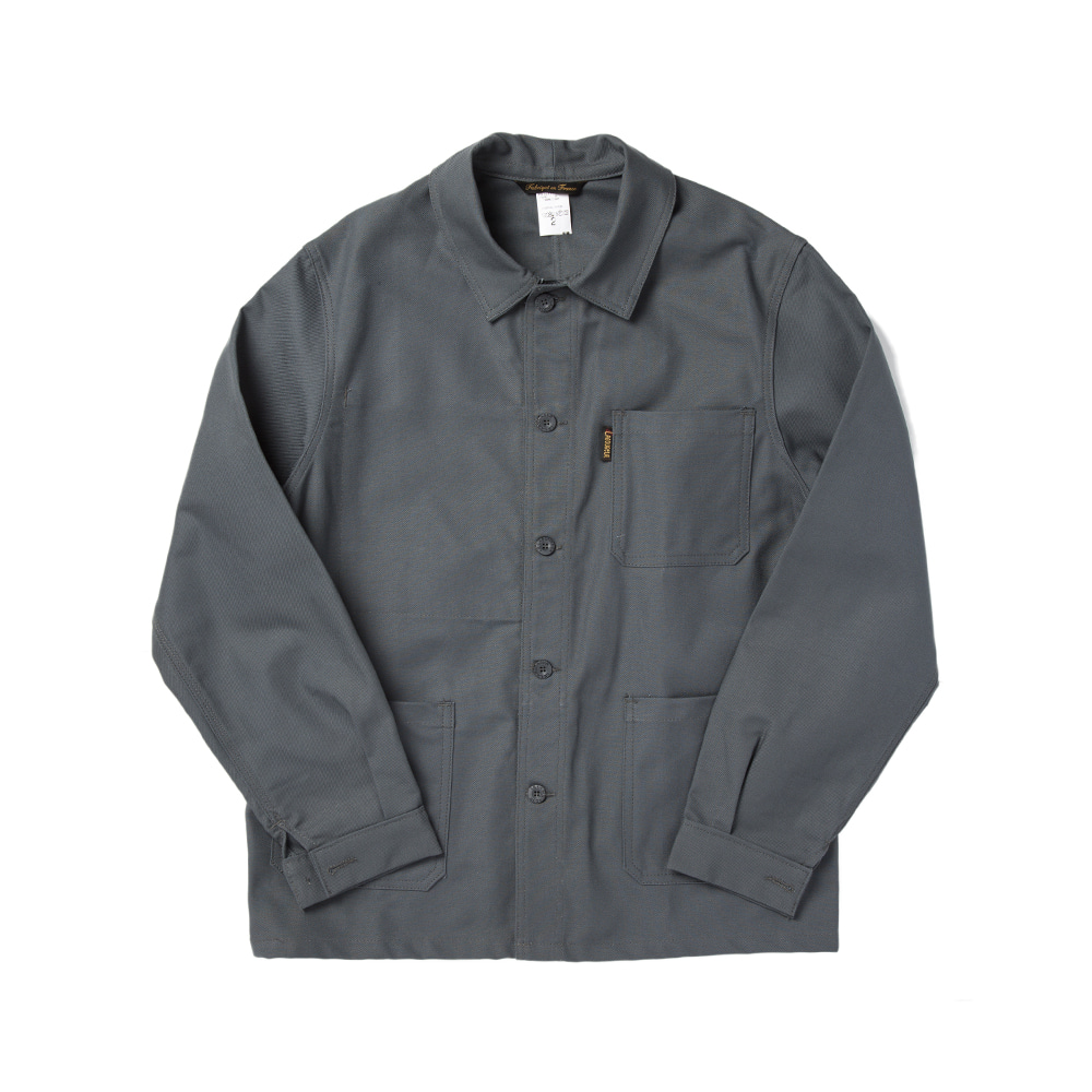 COTTON DRILL WORK JACKET GREY