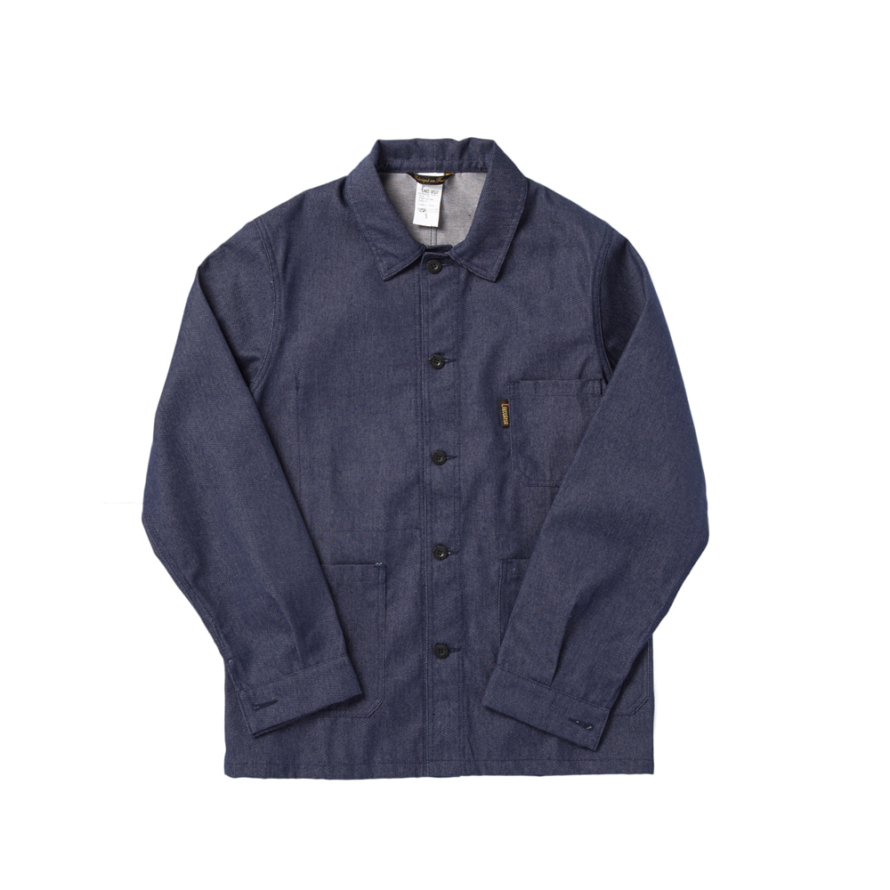 DENIM TWILL WORK JACKET INDIGO