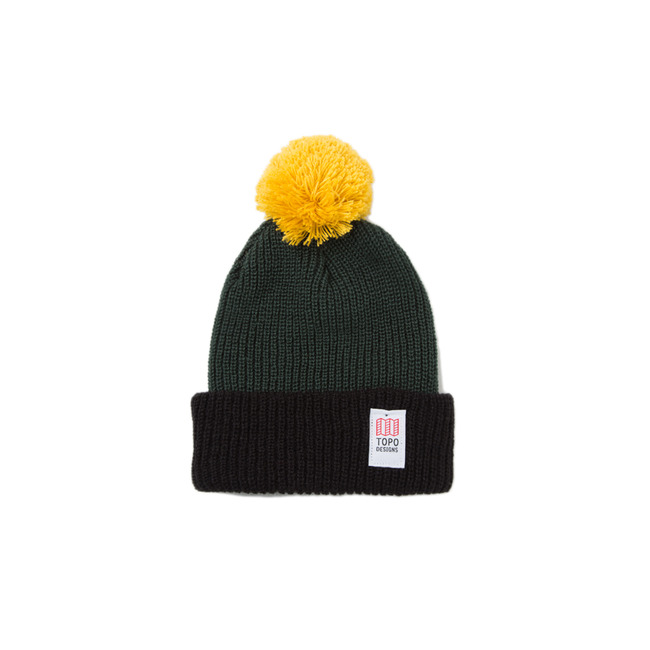 "Pom Beanie ""FOREST/BLACK"" Sale Now"