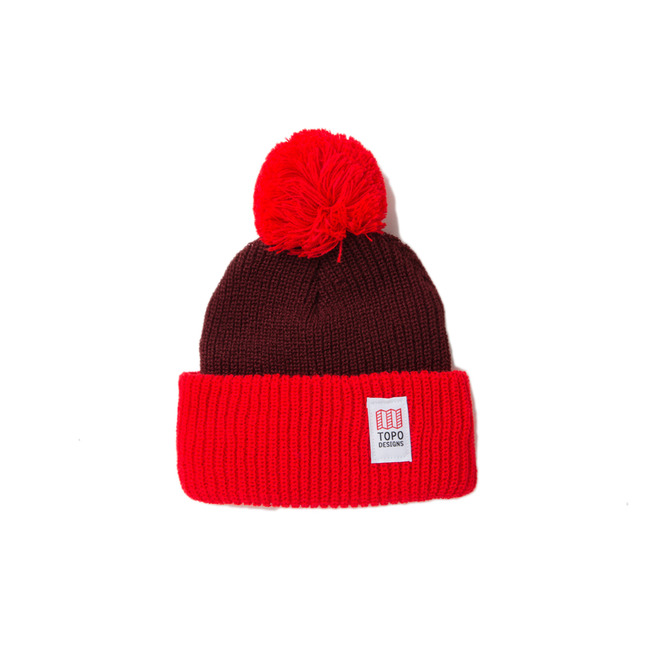 "Pom Beanie ""BURGUNDY/RED"" Sale Now"