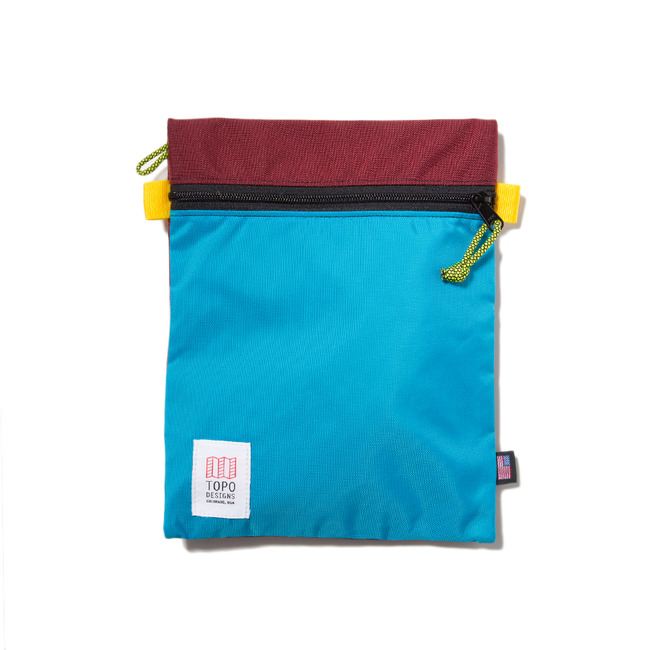 "Accessory Bags Large ""BURGUNDY/AQUA"" Sale Now"