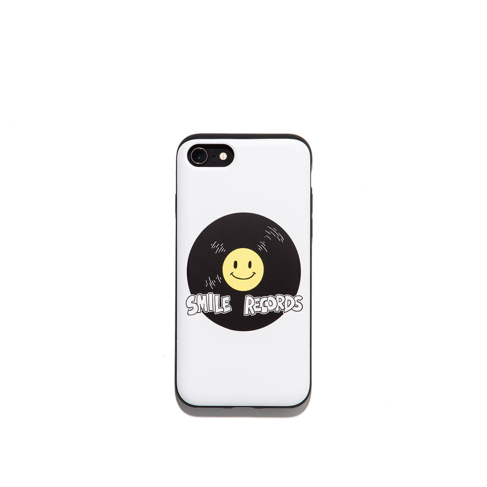 Smile record Iphone case 7/8 7/8+ X 가능 & 카드1장 수납
