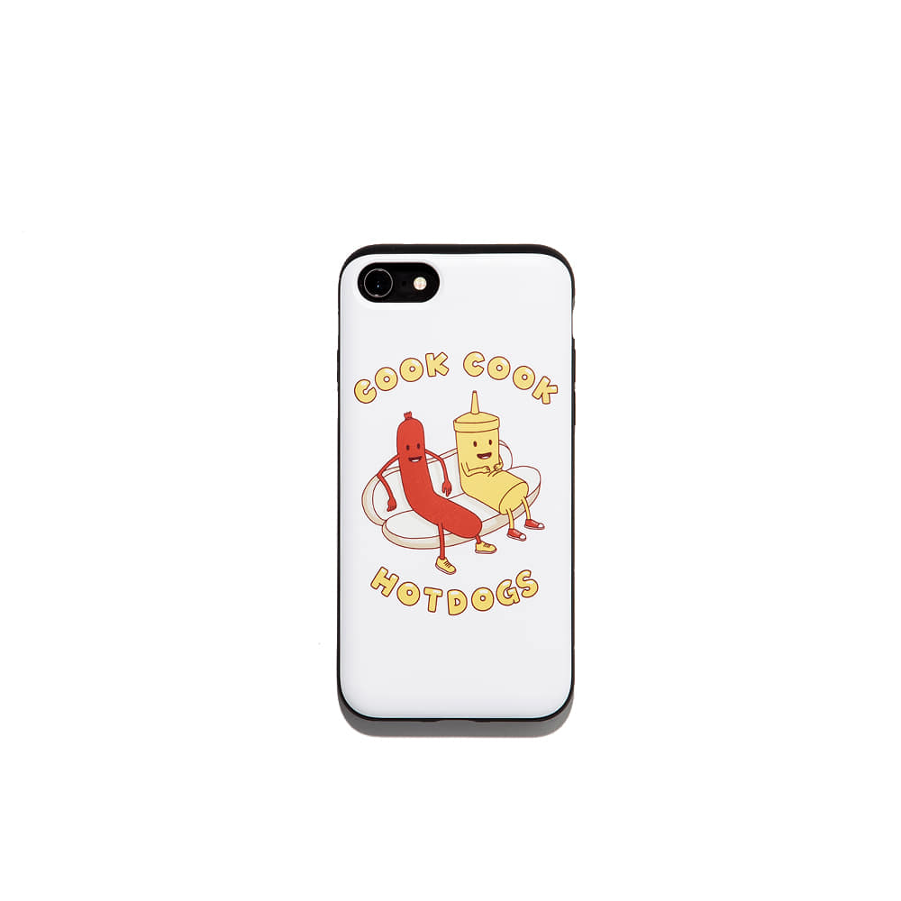 Cook Cook hotdog Iphone Case 7/8 7/8+ X 가능 & 카드1장 수납