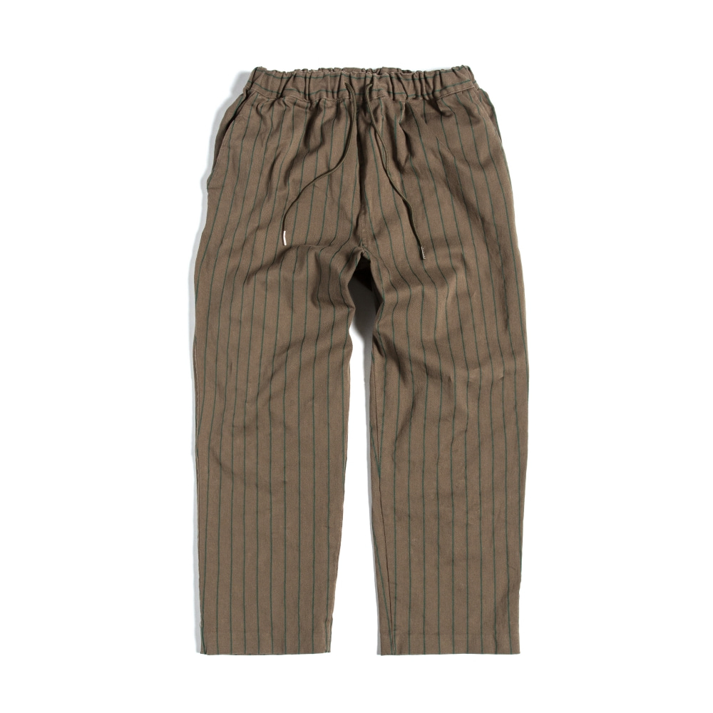 EASY PANTS : STRIPE KHAKI