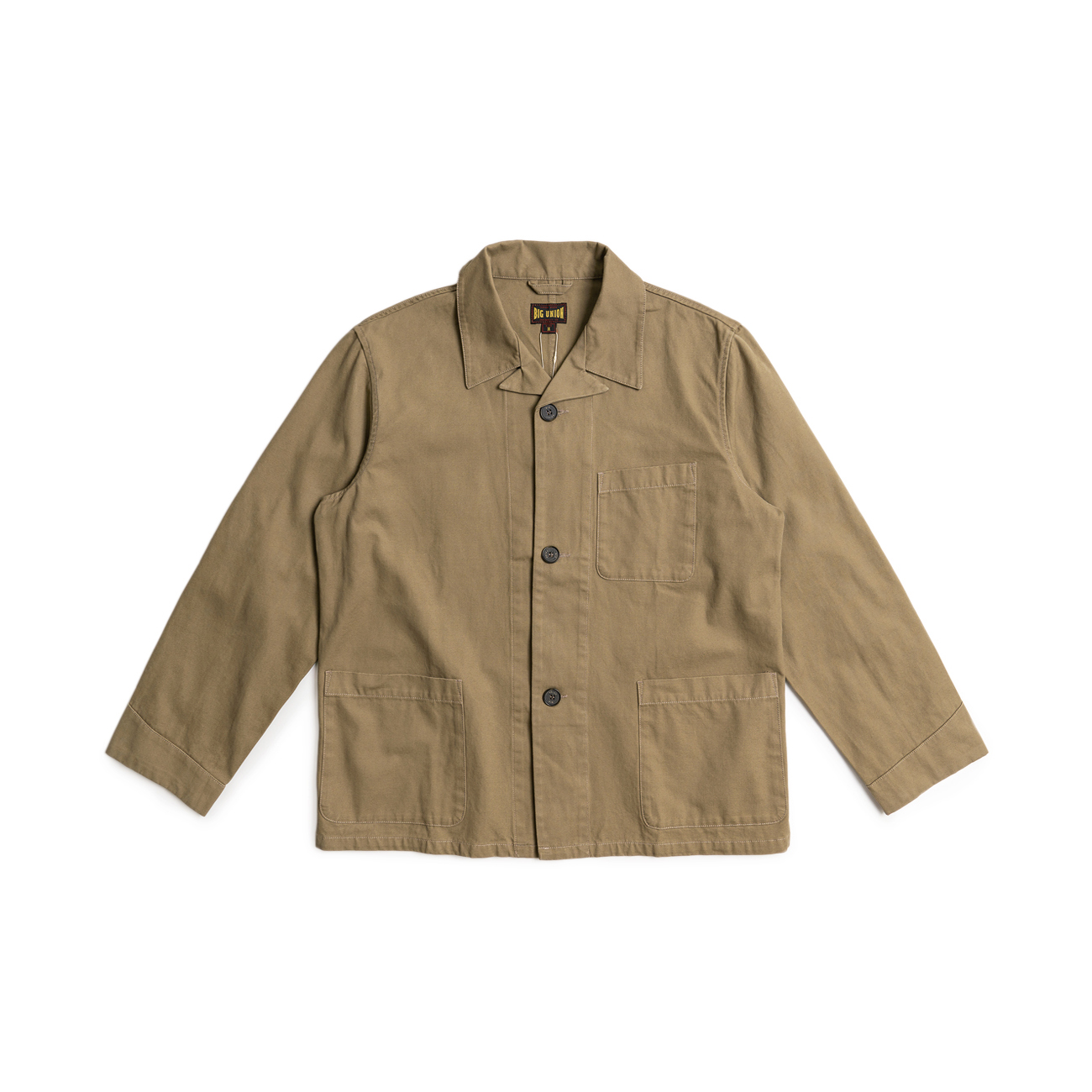 "French Open Collar Jacket ""Khaki"""