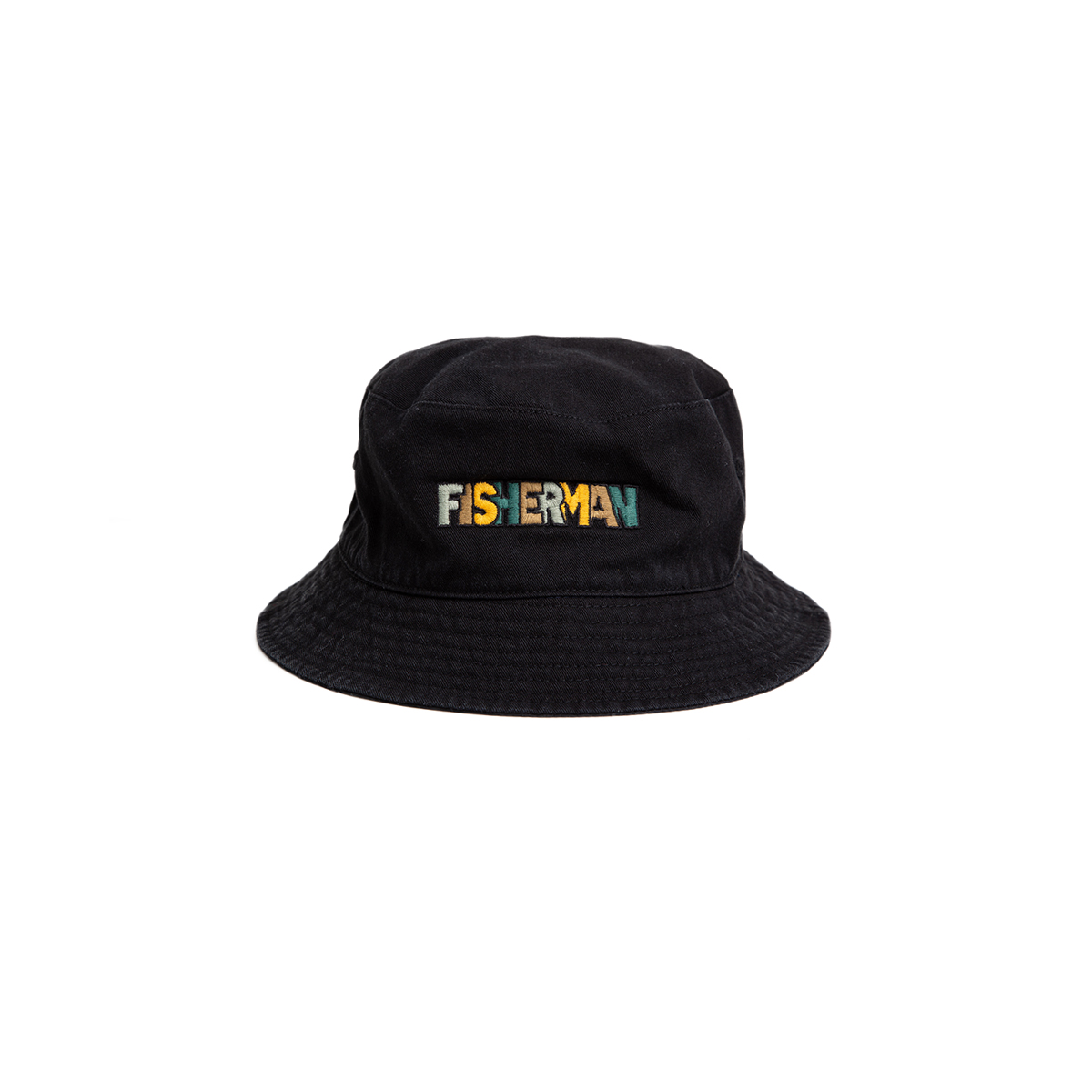 "Reversible Needle Bucket_FISHERMAN ""BLACK""자수가 촘촘히 들어간 버킷[50% off]"