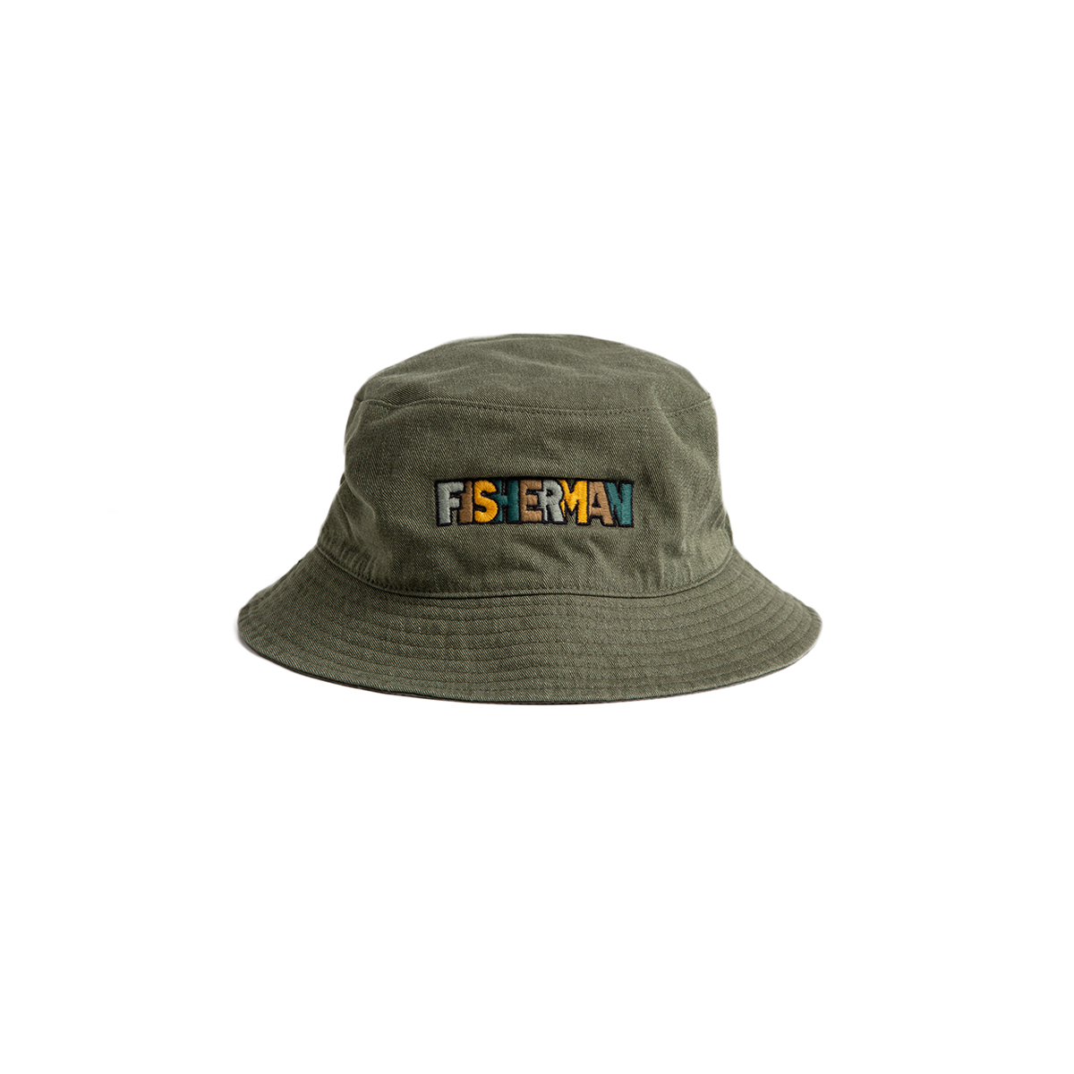 "Reversible Neelde Bucket_FISHERMAN ""KHAKI""자수가 촘촘히 들어간 버킷[50% off]"