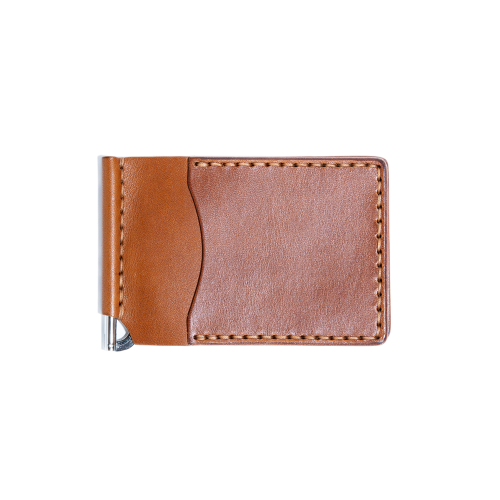 Money Clip Wallet - Cognac