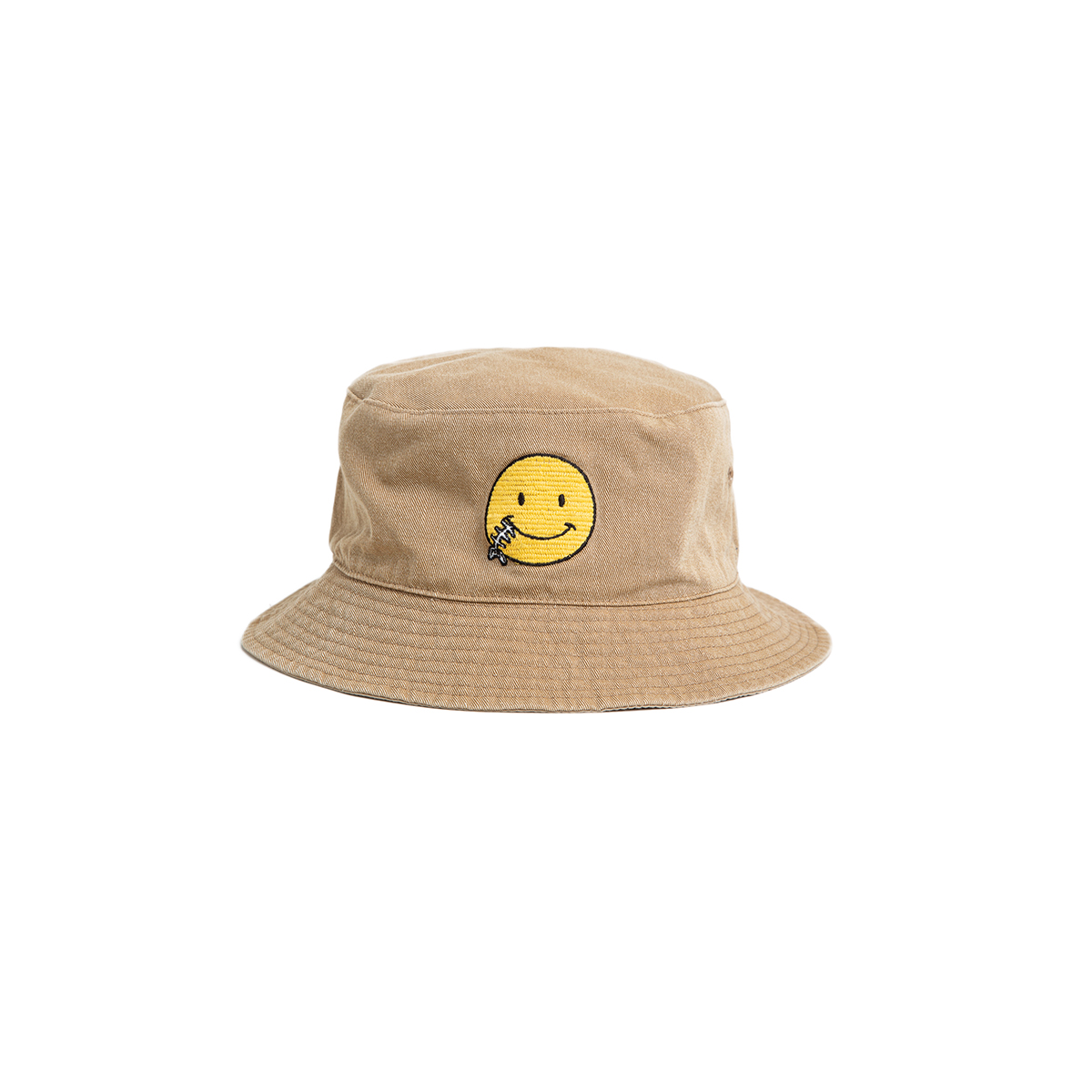 "Reversible Needle Bucket_SMILE ""SAND BEIGE"" 자수가 촘촘히 들어간 버킷[50% off]"