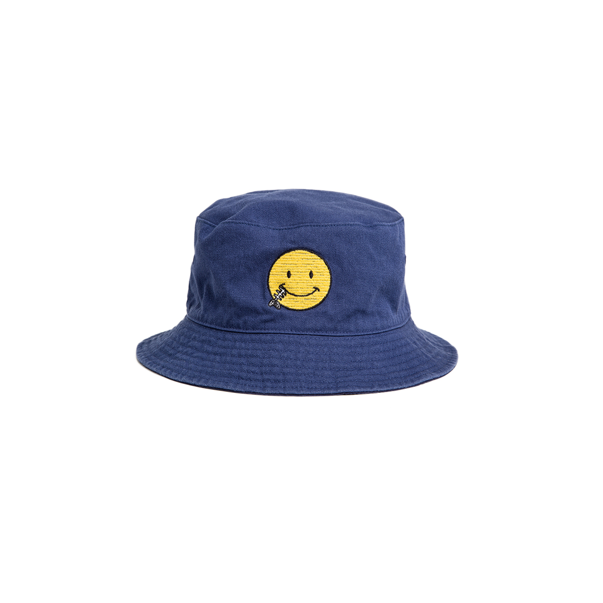 "Reversible Needle Bucket_SMILE ""SEA BLUE"" 자수가 촘촘히 들어간 버킷[50% off]"