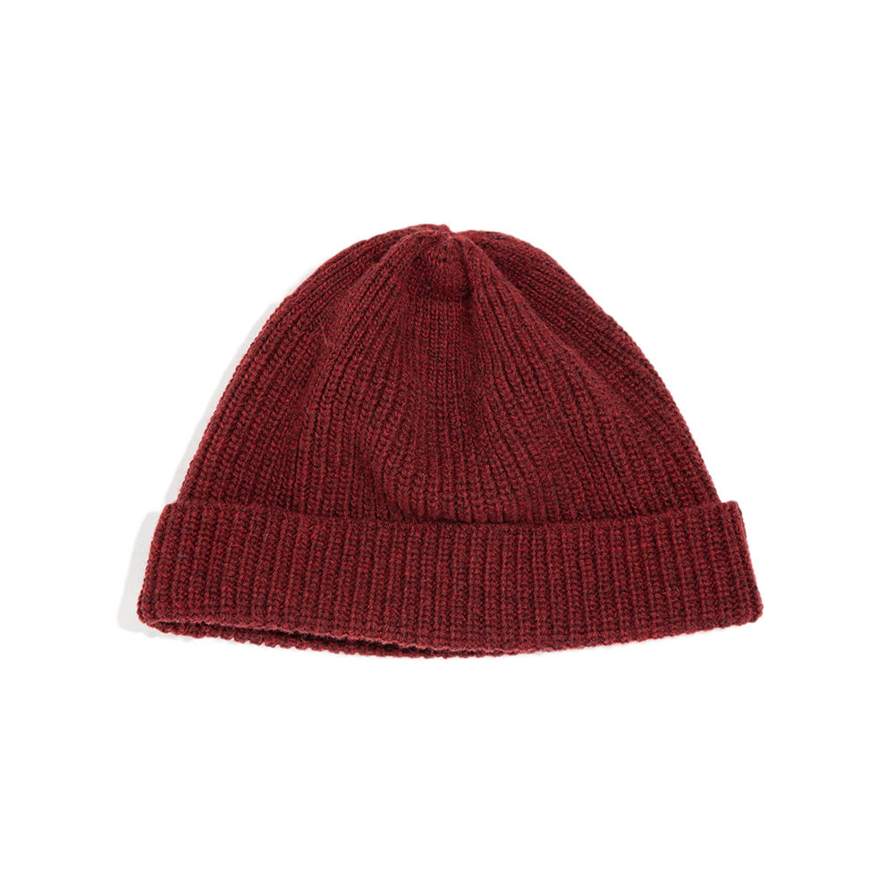 "Lammbs Wool Ribbed Beanie ""WINE""램스울로 따뜻한 비니"