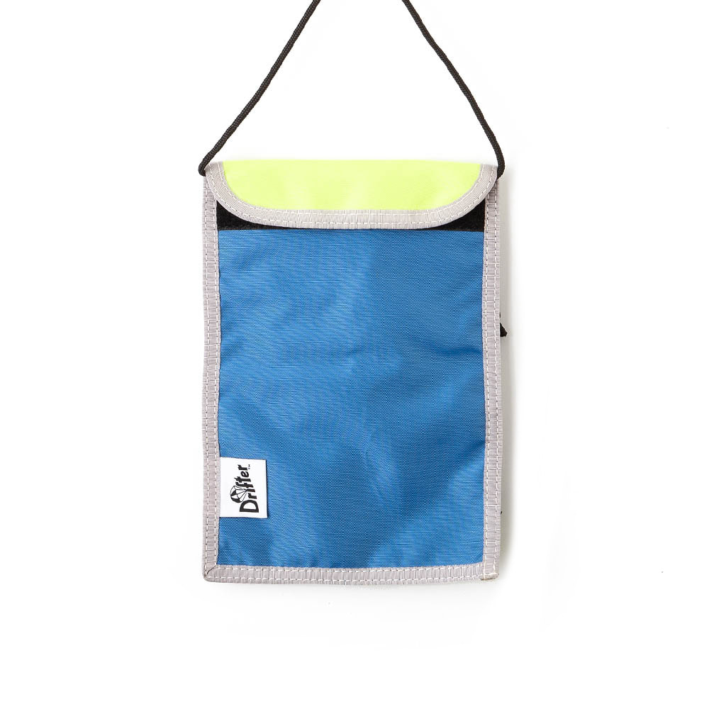 "Neck Pouch ""SL BLUE x FL YELLOW"""