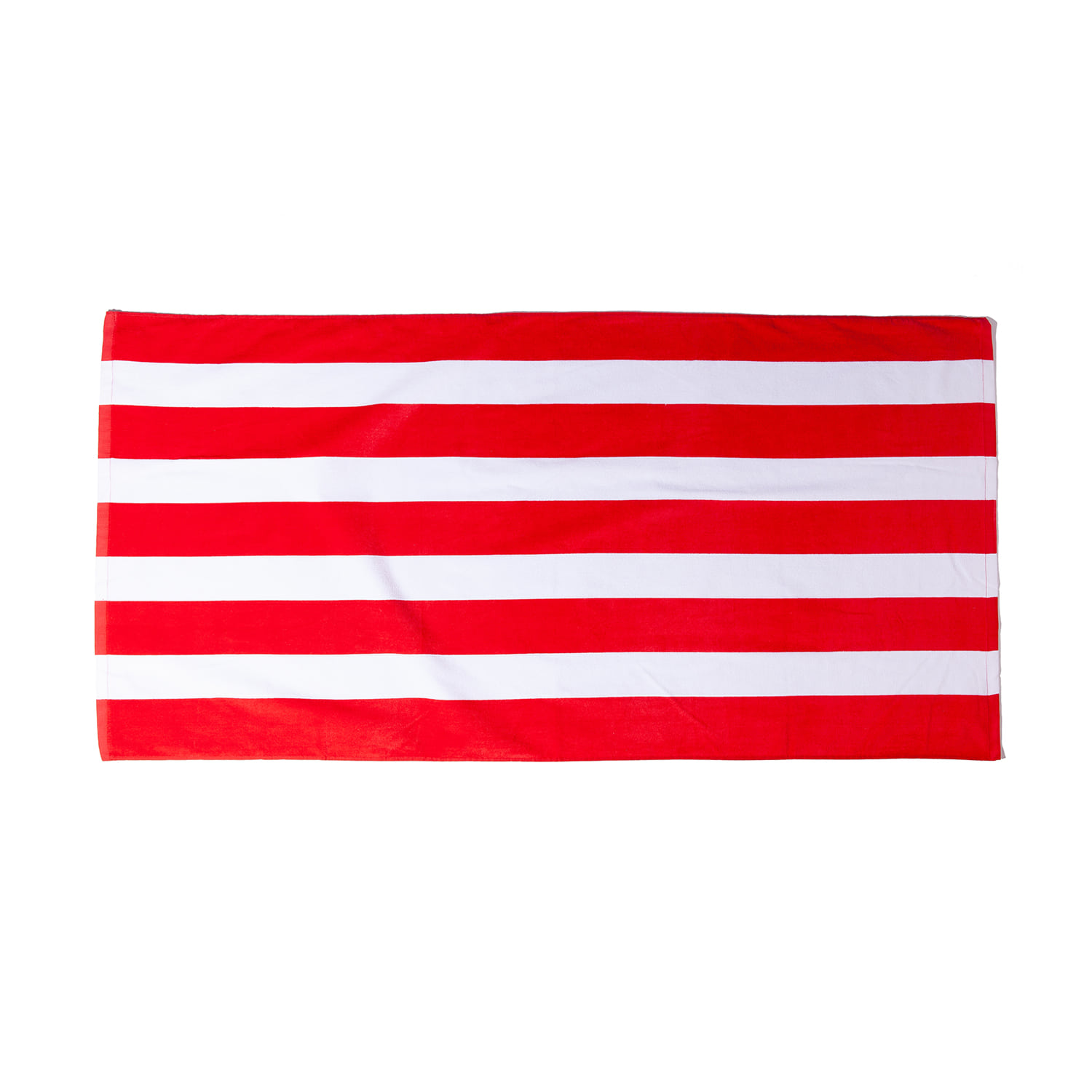 "Cabana Stripe Velour Towel ""RED"""