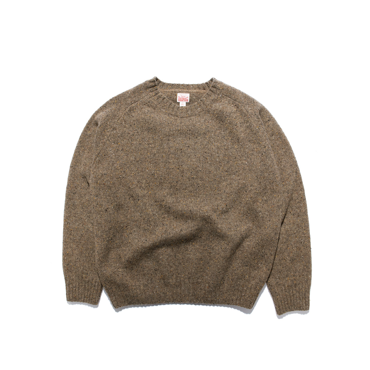 "Warm Tone Wool Saddle Knit ""BROWN"""