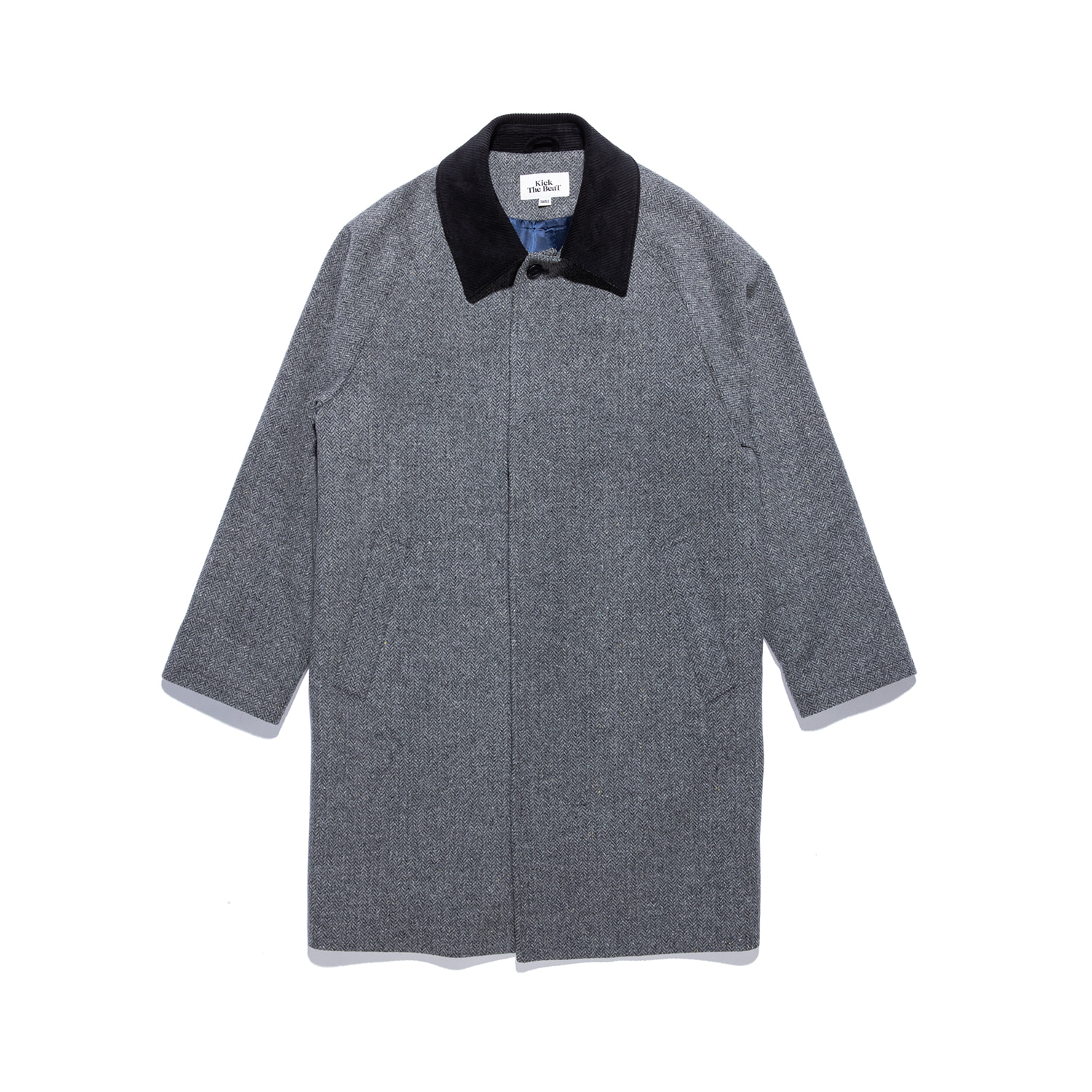 "Wool Mac Coat ""GREY HERRINGBONE"""