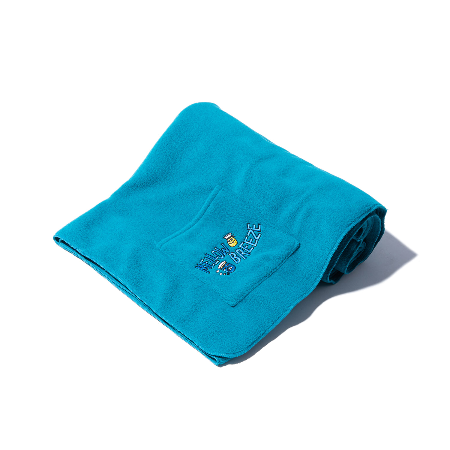 "Fleece Pocket Blanket ""TURQUOISE"""