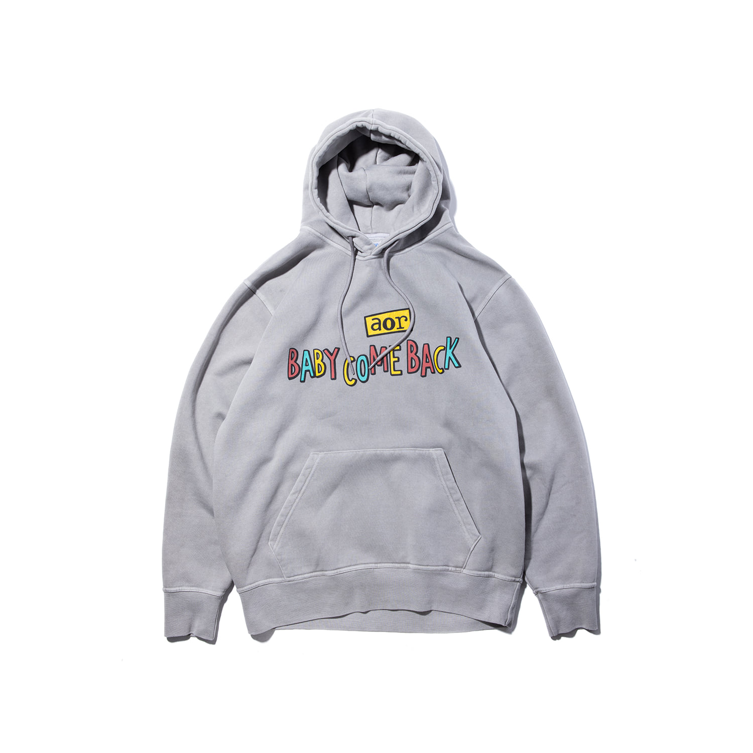 "Baby Come Back A.O.R Hoody ""1977 GREY"""