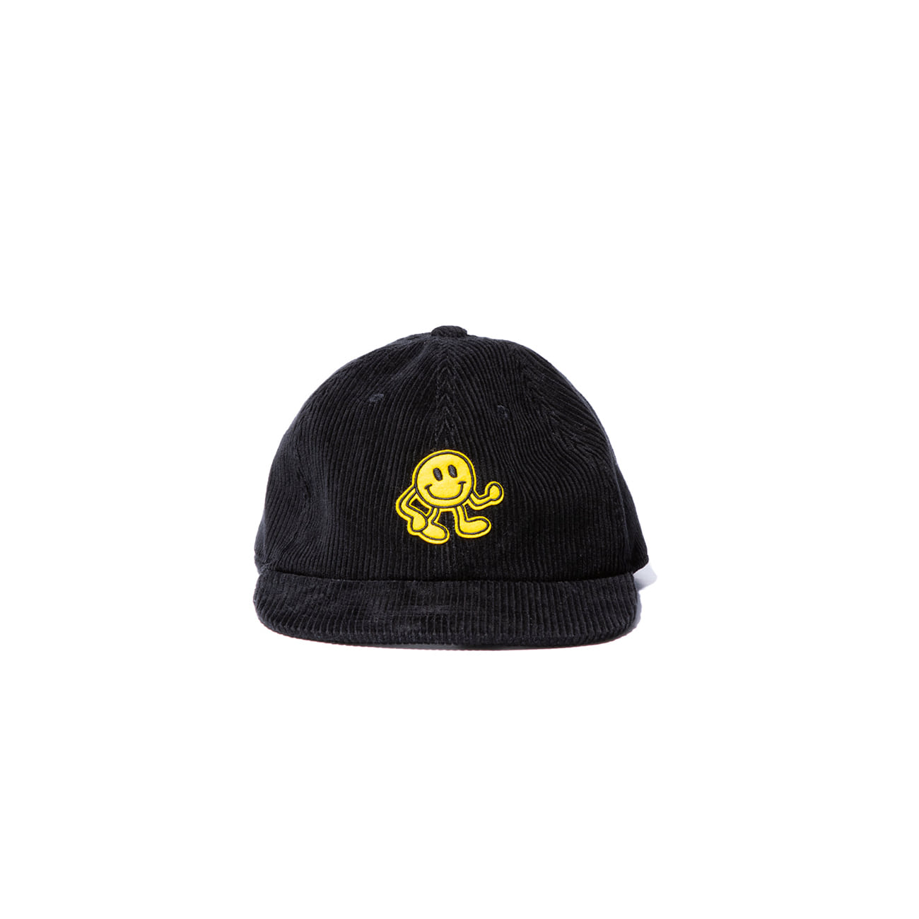 "Dancing Smile Fat Corduroy Cap ""BLACK"""