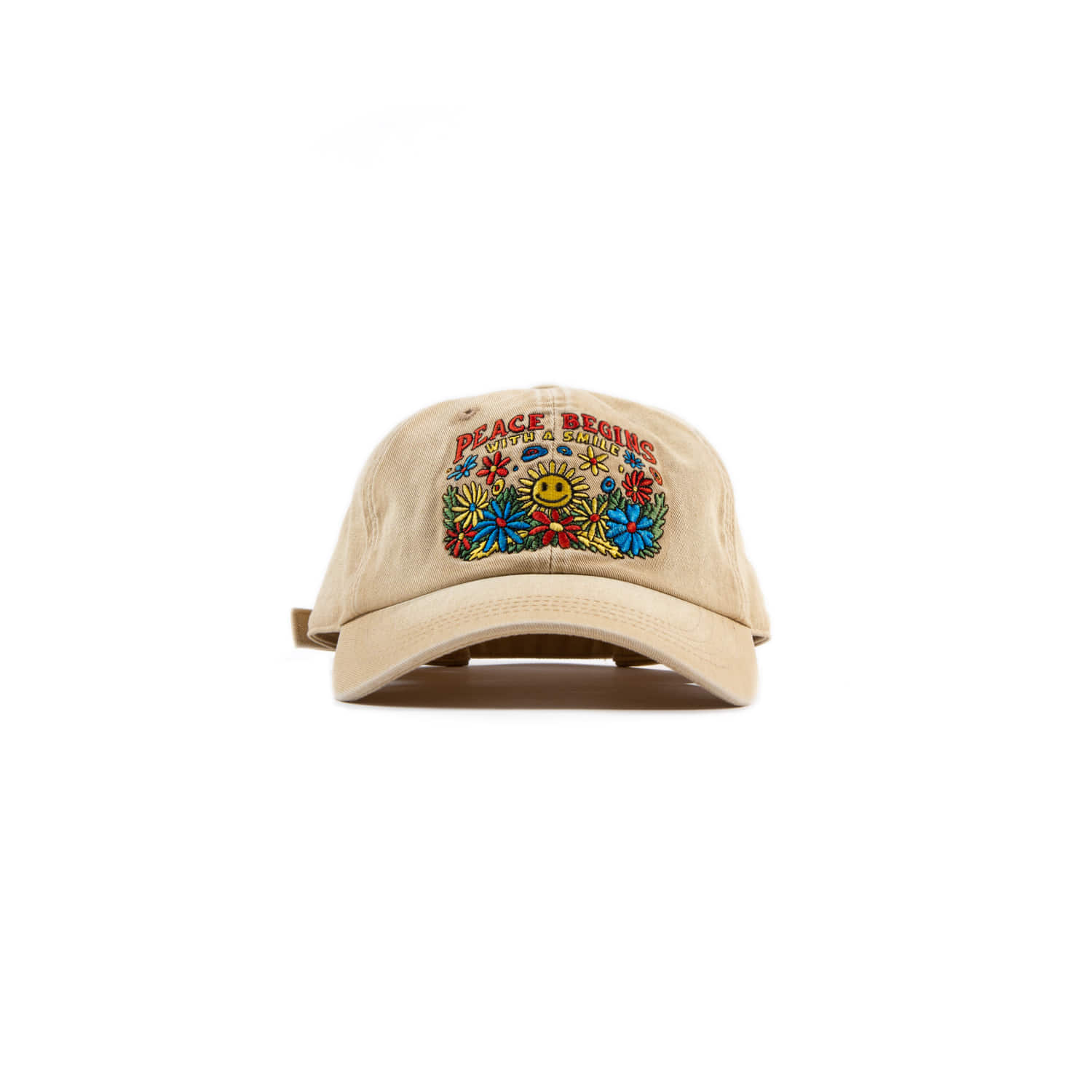 "Peace Begins Smile Cap ""SAND BEIGE"""