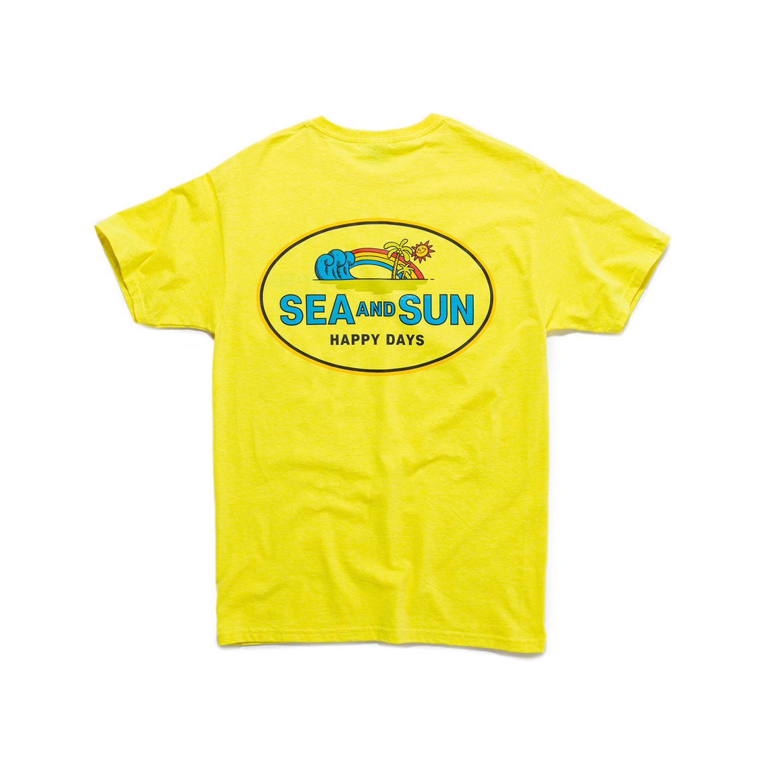 "S&S Happy Days Tee ""NEON YELLOW"""