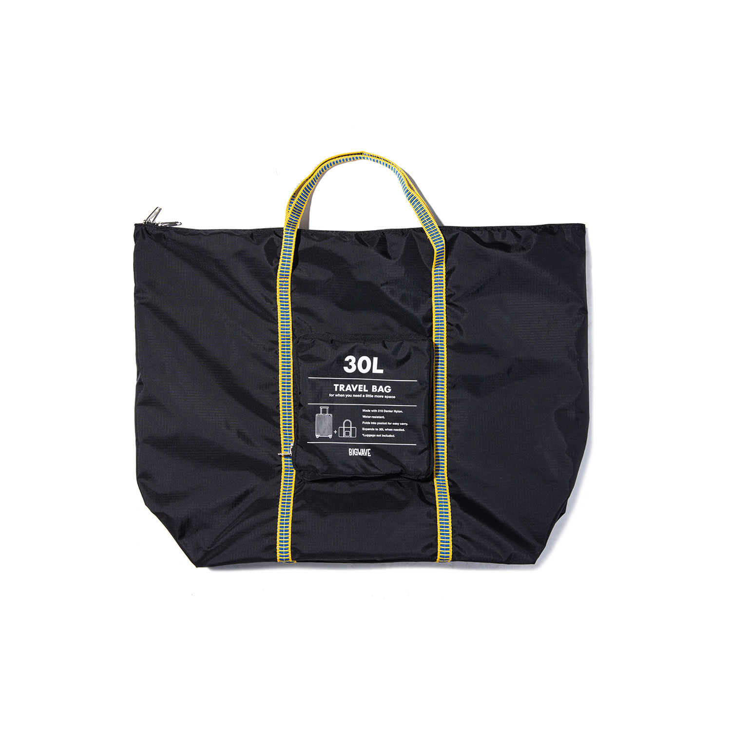 "Packable Travel Bag ""BLACK"""