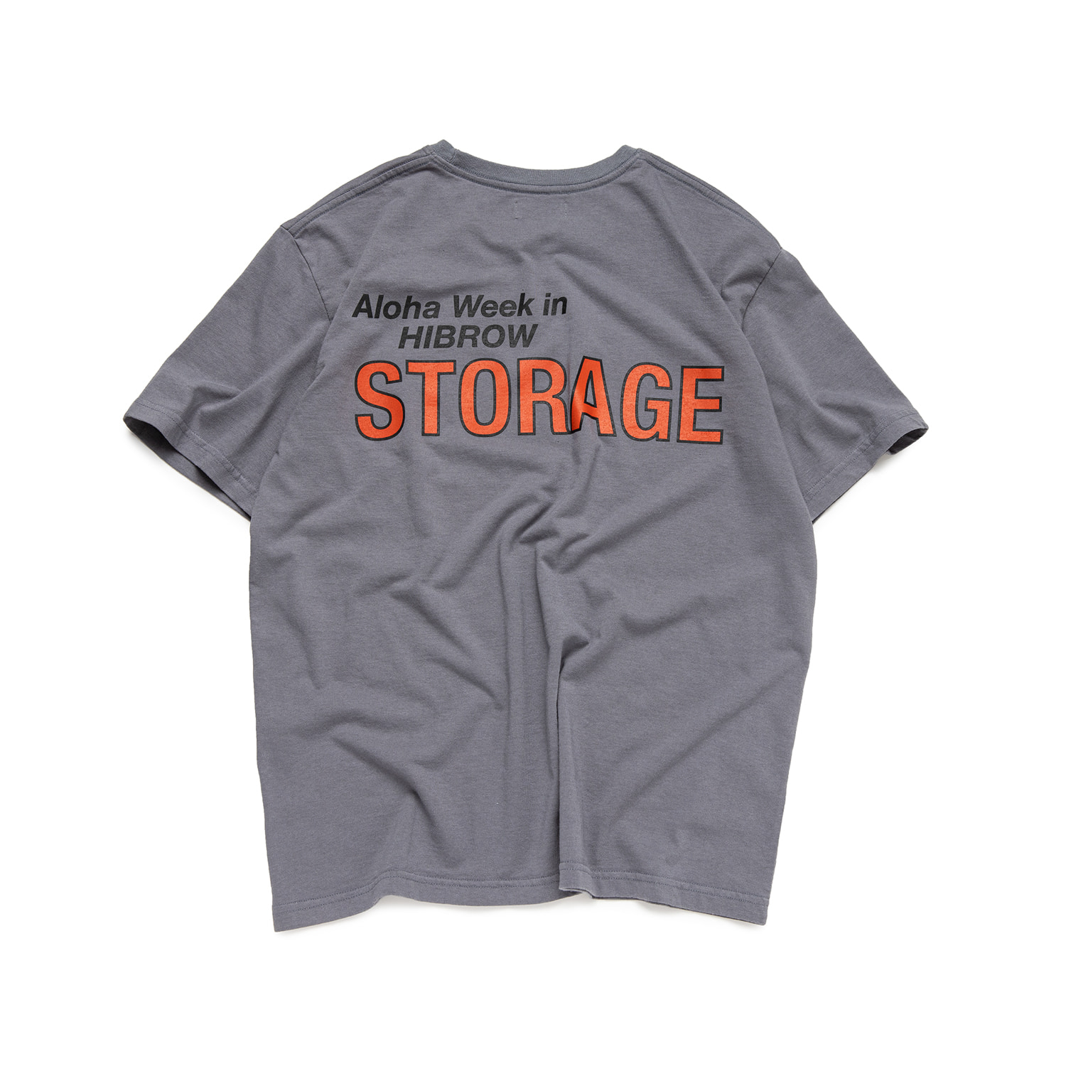 STORAGE TEE (ASH GREY) [HIBROWxBIGWAVE]